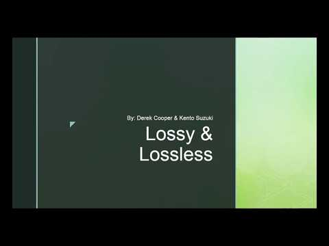 Lossy & Lossless | File Compression