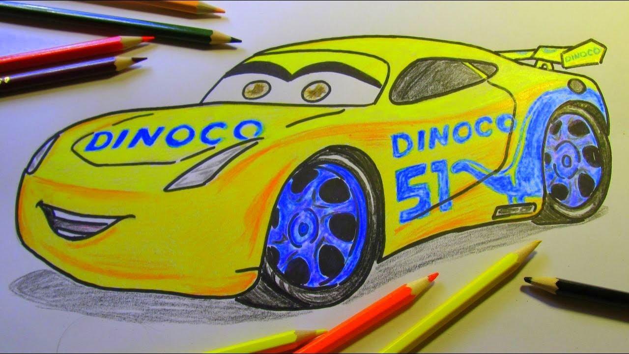 How To Draw Dinoco Cruz Ramirez Disney Pixar Cars 3 2017 2 Youtube