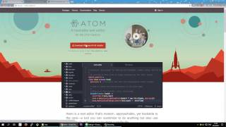 atom editor with SASS/GIT/GitHub/Live preview support