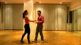 "Learn brazilian zouk. Beginners. 29.03.15. The ""self-hug"". Turning on the spot with head movement"