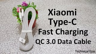 Xiaomi Type-C Fast Charge Flat Data Cable Testing And Full Review Urdu/Hindi