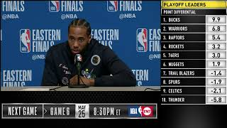 Kawhi Leonard Press Conference | Eastern Conference Finals Game 5
