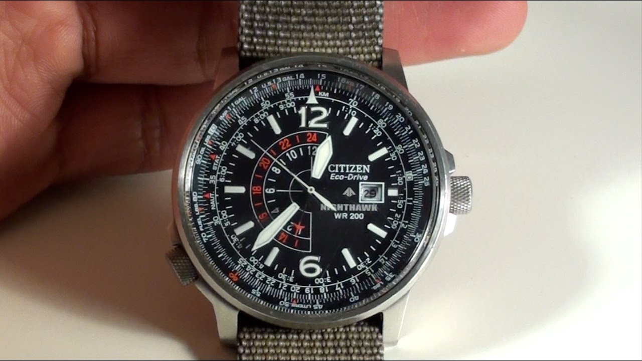 Citizen Nighthawk Review Eco Drive - YouTube
