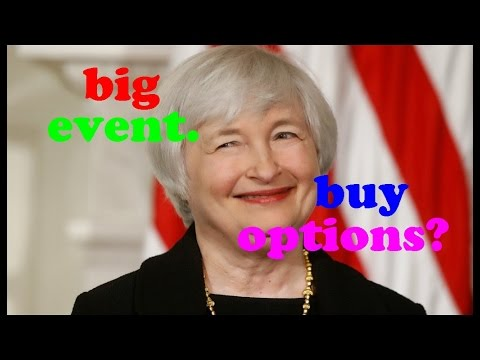 Options trading strategies: Buying options before big events (Fed, earnings, etc.) // Options basics