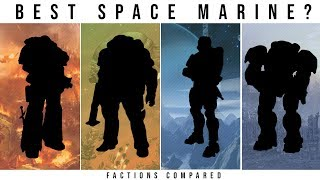 Which Sci-Fi Faction has the BEST SPACE MARINE? | Halo, WH40k, Starcraft, Starship Troopers
