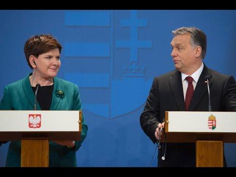 Beata Szydło i Viktor Orbán - wspólna konferencja prasowa