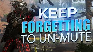 I Keep forgetting to Un-Mute myself FUN Apex Legends Gameplay