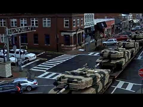Military Tanks through La Grange, KY