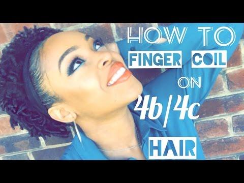 Natural Hair Finger Coils On Short 4b 4c Hair Youtube