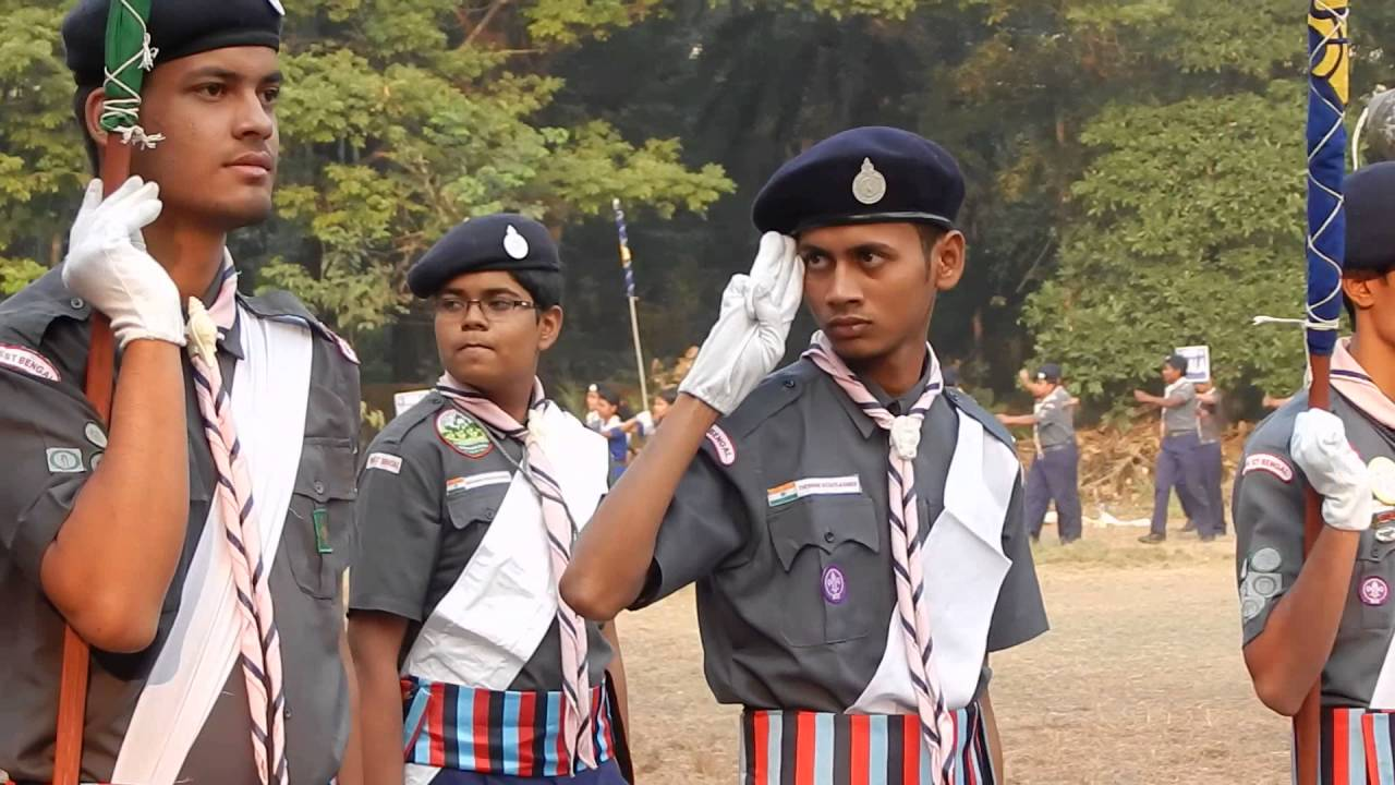 The Bharat Scouts And Guides Parade