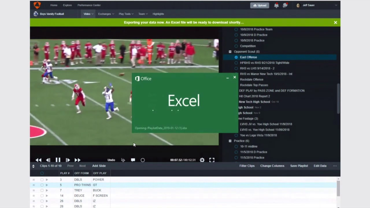 Exporting Scouting Data From Hudl (PC)