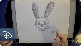 How-To Draw Oswald the Lucky Rabbit | Walt Disney World