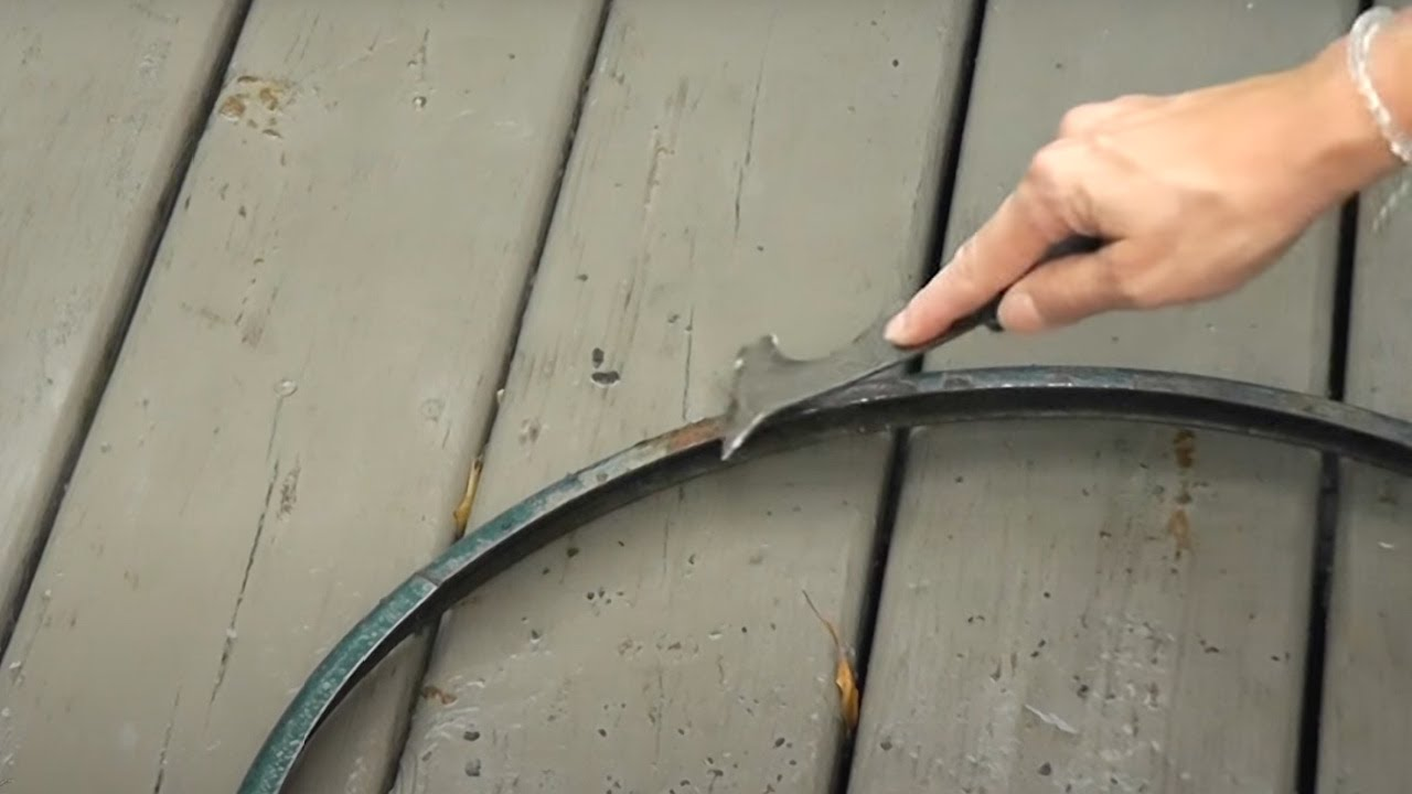 Outdoor Table Makeover Diy Emoji Table Garbage To Gorgeous Episode 19 Craft Klatch Youtube