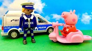 ☺️ Świnka Peppa i cudowny Prezent  Stać Policja  Bajka dla dzieci PO POLSKU