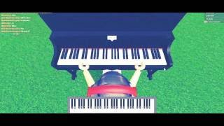 first video on Roblox! playing gravity falls theme song on roblox piano