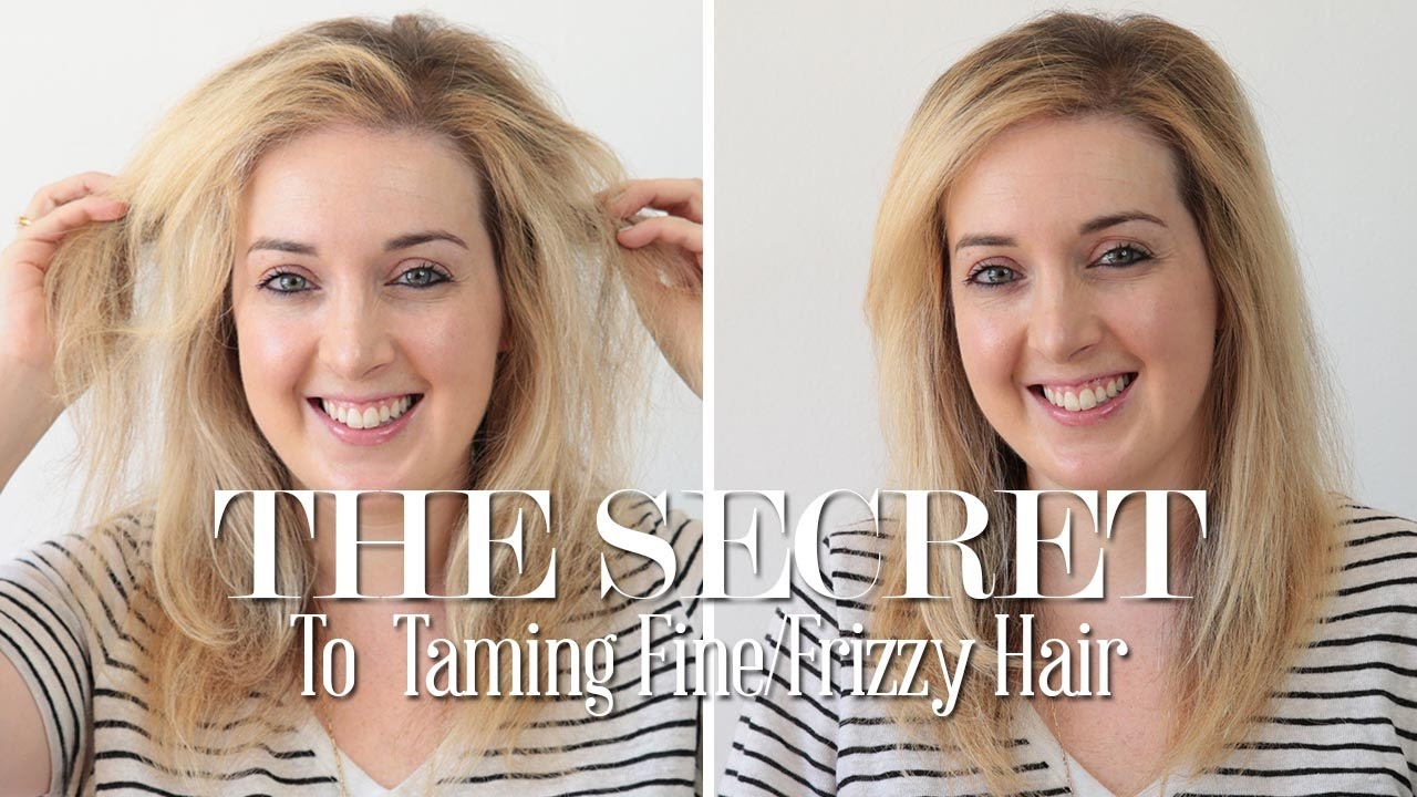The Secret To Taming Fine Frizzy Hair