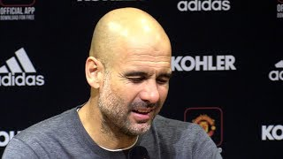 Man Utd 0-2 Man City - Pep Guardiola Full Post Match Press Conference - Manchester Derby