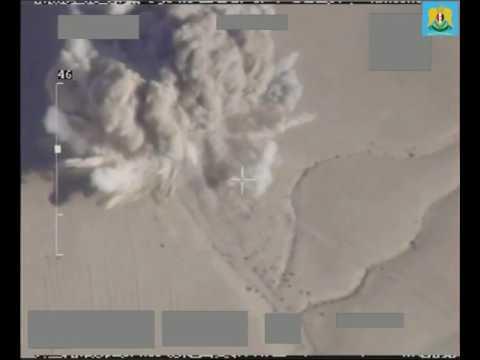 Syria War 2017 - Russian air force destroys an ISIS tank & vehicle near Palmyra in E Homs