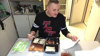 General food/Бефстроганов с рисом/салат греческий/Кесадилья/итинг мукбанг eating mukbang