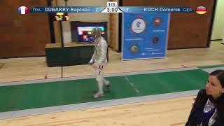 FE 2018 T32 11 M S Individual Yerevan ARM U23 European Championships GREEN KOCH GER vs DUBARRY FRA thumbnail