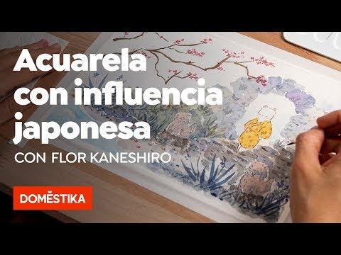Ilustración en acuarela con influencia japonesa – Curso online de Flor Kaneshiro - Domestika