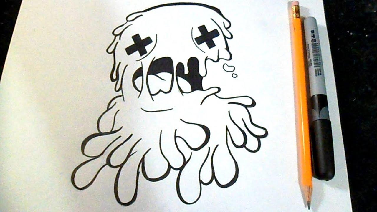 Dibujos Grafitis Personaje De Dibujos Animados Con El