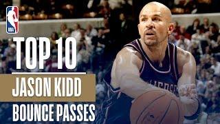Jason Kidd's Top 10 Career NBA Bounce Pass Assists!