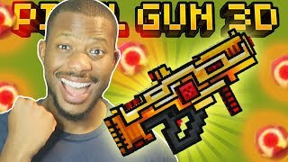 I UNLOCKED GOLD MEGA GUN!   Pixel Gun 3D