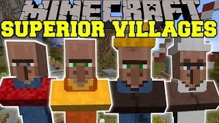Minecraft: SUPERIOR VILLAGES (NEW VILLAGERS, BUILDINGS, & TRADES!) Mod Showcase