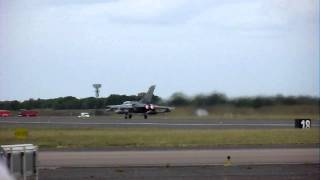 Takeoff of two Tornado Royal Air Force