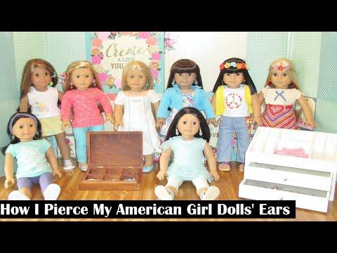 How I Pierce My American Girl Dolls' Ears