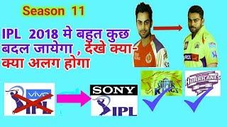 CHANGES IN IPL 2018   SEASON 11   FRESH AUCTION , CSK AND  RR BACK