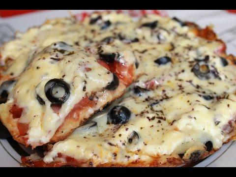 Быстрая пицца на сковороде (Quick pizza in a pan)