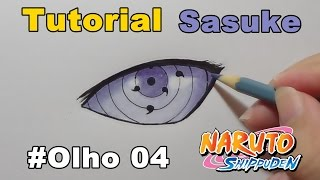 Como Desenhar Olho do Sasuke Rinnegan - How to Draw Eye of Sasuke Rinnegan
