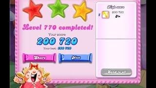 Candy Crush Saga Level 770   ★★★   NO BOOSTER