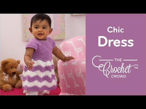 Crochet Baby Chevron Dress Youtube