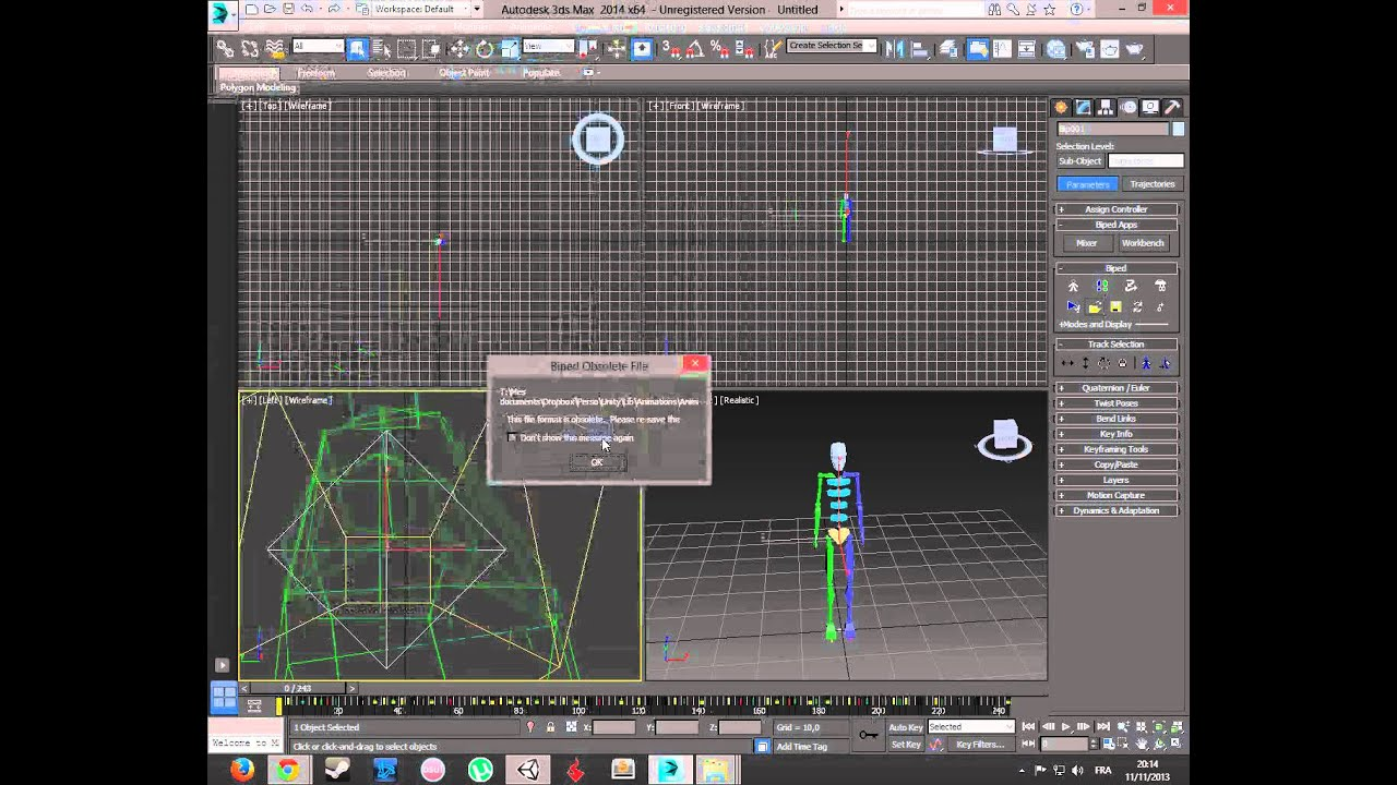 Bip To FBX for Unity3D
