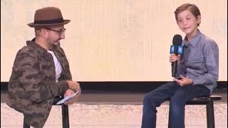 """Jacob Tremblay joins """"Two Stools with Spencer West"""" at WE Day Vancouver 2017"""