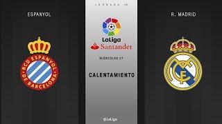 Calentamiento Espanyol vs R. Sociedad