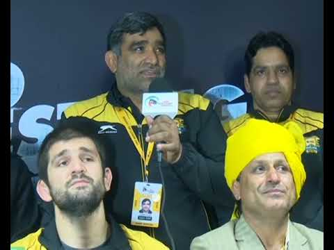 PWL 3 Day 8: Punjab Royals Wrestlers briefing the Media after victory against Haryana Hammers