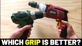 PISTOL-GRIP VS. MID-HANDLE (Which DRILL HANDLE Shape Is Better? What's The Difference...?)