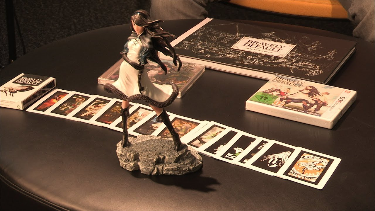 Bravely Default Deluxe Collector's Edition Unboxing - YouTube