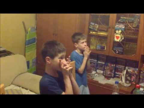 Sergio Ramos Goal-Champions League Final-Two little Serbian fans reaction