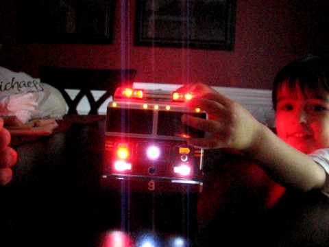 Led Lights For Semi Trucks >> ENGINE 9 - 1/18 SCALE SEAGRAVE FIRE ENGINE TOY FIRE TRUCK WITH CUSTOM MADE LED LIGHTBAR - YouTube