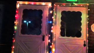 Vintage Christmas Lights Decorations Outside   (full Video)  Christmas 2012