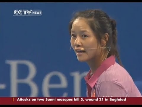 Li Na plays Djokovic in charity match