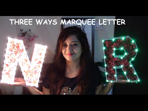 DIY Marquee Letters | Decor Ideas