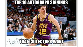 Top 10 Autograph Signings Collectors Want - The Powers Sports Memorabilia Show Episode 9