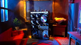 Death By Audio - ROOMS Stereo Reverb (Synth + Guitar Demo)