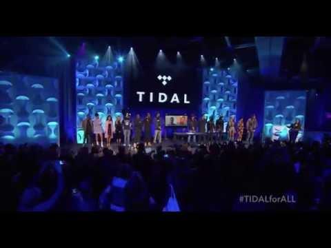 Beyoncé, Rihanna, Nicki Minaj, Madonna, Usher, Calvin Harris Tidal Press Conference 2015